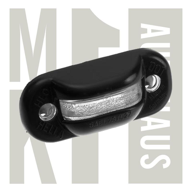 License Plate Light Lens and Bulb Holder - Black