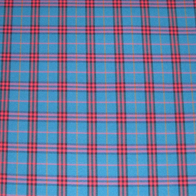 Upholstery by Linear Yard - Blue / Red / Black / Orange Plaid