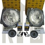 NOS Hella Mk2 Complete Headlight Assembly Set w/city light