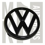 "Round ""VW"" Grille Badge / Emblem Scirocco II Only - Black"