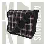 MK1 Golf Gti Fabric Messenger Bag -  Black / Silver