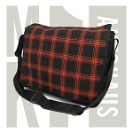 MK1 Golf Gti Fabric Messenger Bag - Black / Red