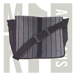 MK1 Golf Gti Fabric Messenger Bag -  Black / Gray