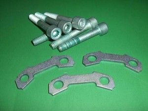 90mm Inner Axle Flange Mounting Kit  - (1 Per Axle) , IMAGE 1K0 407 357B x3 893 407 237 x6