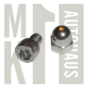 Seat Install Socket Head Bolt & Acorn Nut - Stainless Steel, Seat Nut 94000a038 x1  & Bolt 91292a201 x1