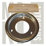 NOS Happich Fuel Filler Neck Trim Ring - Polished Metal