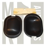NOS Happich Door Handle Shields - Satin Black - Set of 2
