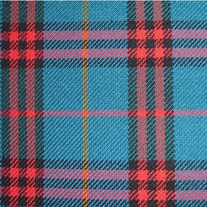 Upholstery by Linear Yard - Blue / Red / Black / Orange Plaid , VOLK19027