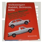 Bentley Repair Manual GAS-RABBIT,JETTA,P/U,CONVERTIBLE 80-84