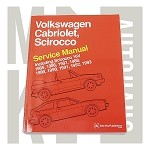 Bentley Repair Manual 85-93 Cabriolet, Scirocco II
