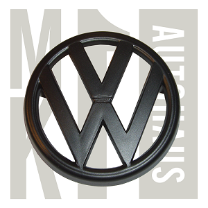 North American Mk1  Rabbit / Caddy / Jetta Grille Badge - VW - Black, 161853601 - Black