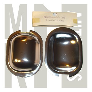 NOS Happich Door Handle Shields - Polished - Set of 2, 171 837 001A See Field 6 For Reorder