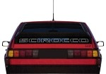 Scirocco II Lower Hatch Window Decal