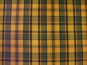 NOS Westy Orange/Green -Plaid Seat Upholstery, Orange/Green Plaid Seat Upholstery - 1 Yard