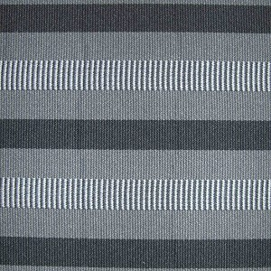 Upholstery by Linear Yard - Gray / Black / White Horizontal Stripes , VOLK13464