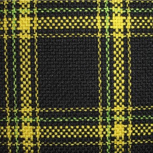 Upholstery by Linear Yard - Yellow / Black / Green Plaid, VOLK18045