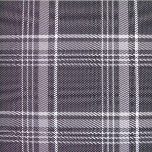 Upholstery by Linear Yard - Grey / Black / White Plaid, VOLK18967