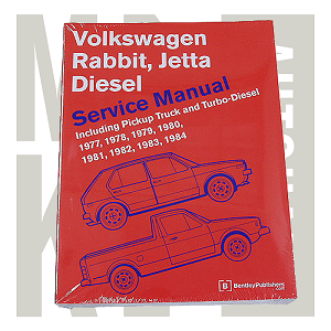 Bentley Repair Manual 77-84 DIESEL- RABBIT  JETTA  PICKUP, VW 800 0122